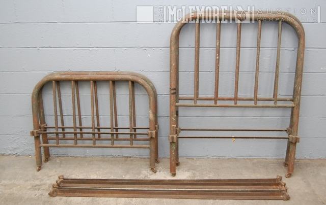 2 Antique Pre Civil War Metal Hospital Beds From Old Wartrace