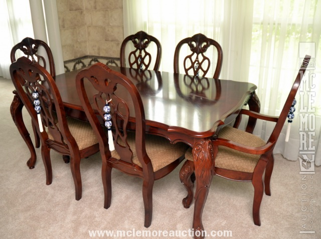 Hamilton Spill Solid Wood Dining Room Table And 6 Chairs